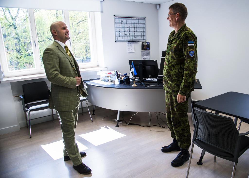 Jānis Sārts, direktör på StratCom, till vänster. Foto: Lotte Fernvall